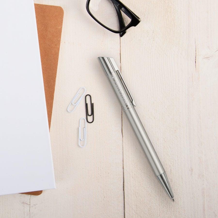 Viva Pens - Tess - engraved ballpoint pen - Silver (left-handed)