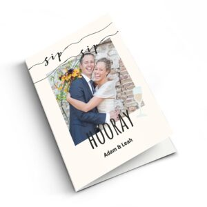Wedding card with photo - XL - Vertical