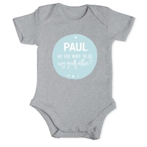 Will you be my godfather - Romper - Grey - 50/56