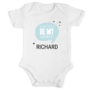 Will you be my godfather - romper - White - 50/56