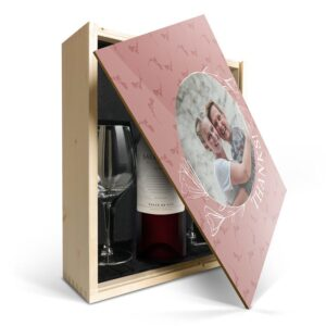 Wine gift set with glass - Salentein Malbec - Printed lid