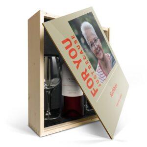 Wine gift set with glass - Salentein Primus Malbec - Printed lid