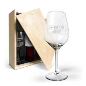 Wine package with glasses - Luc Pirlet Merlot