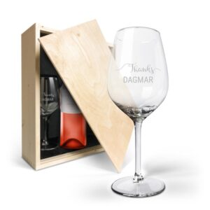 Wine package with glasses - Luc Pirlet Syrah