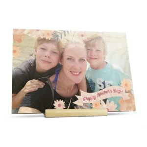 Wooden Mother's Day card - horizontal