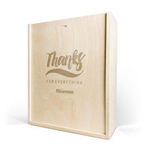 Wooden case - Engraved - Triple
