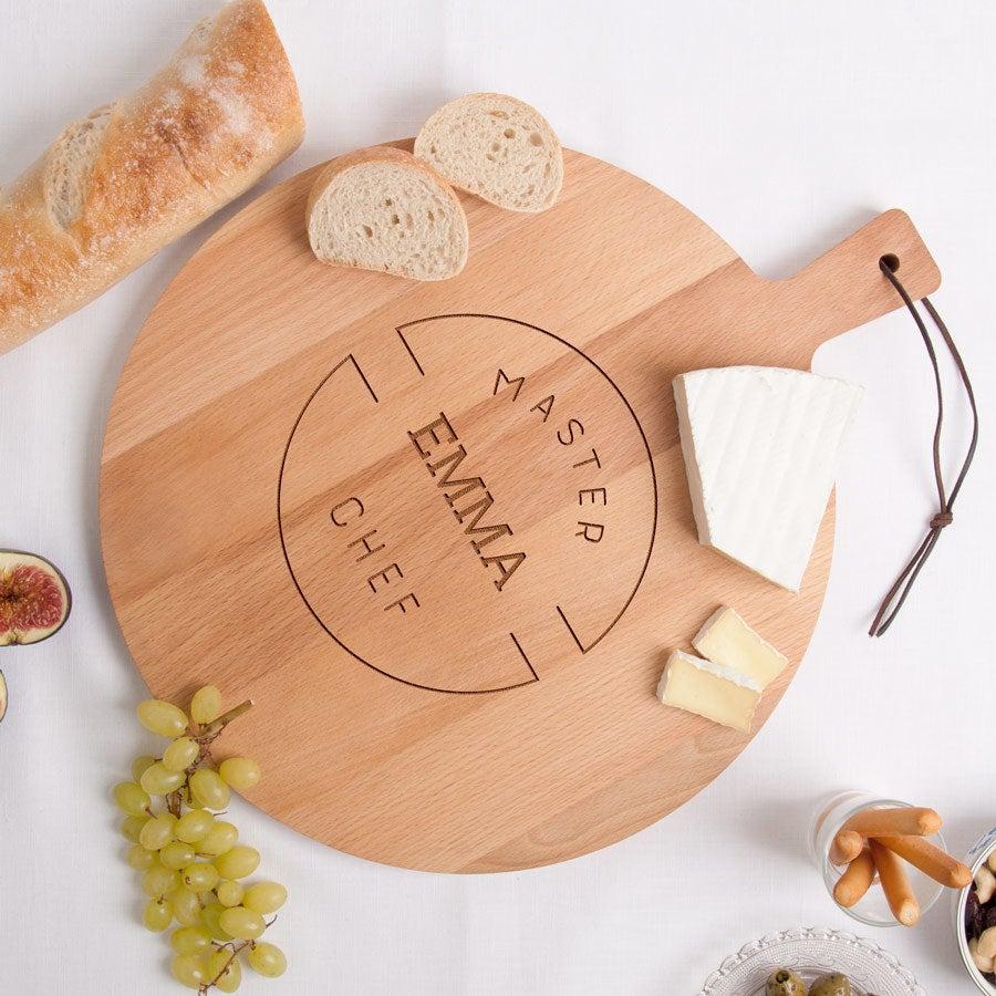 Wooden serving platter - Beech wood - Round (M)