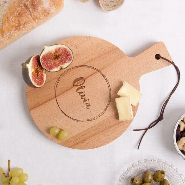 Wooden serving platter - Beech wood - Round (S)
