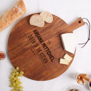 Wooden serving platter - Teak - Round (M)