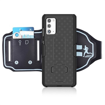 2-in-1 Detachable Samsung Galaxy Note20 Sports Armband - Black