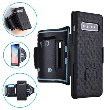 2-in-1 Detachable Samsung Galaxy S10+ Armband - Black