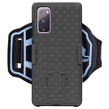 2-in-1 Detachable Samsung Galaxy S20 FE Sports Armband - Black