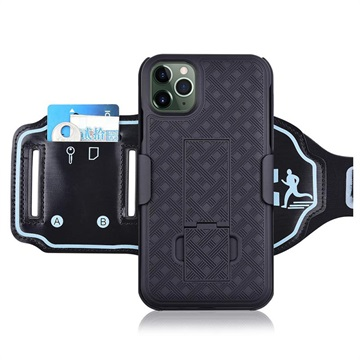 2-in-1 Detachable iPhone 11 Pro Max Sports Armband - Black