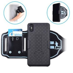 2-in-1 Detachable iPhone XS Max Sports Armband - Black