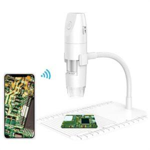 50X-1000X WiFi Digital Microscope with Stand - White