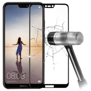 5D Full Size Huawei P20 Lite Tempered Glass Screen Protector - Black