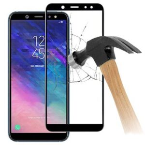 5D Full Size Samsung Galaxy A6+ (2018) Tempered Glass Screen Protector - Black
