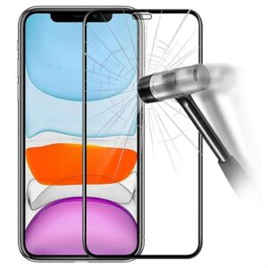 6D Full Cover iPhone 11 Tempered Glass Screen Protector - 9H - Black