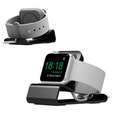 Aluminum Alloy Apple Watch Series SE/6/5/4/3/2/1 Charging Station - Grey