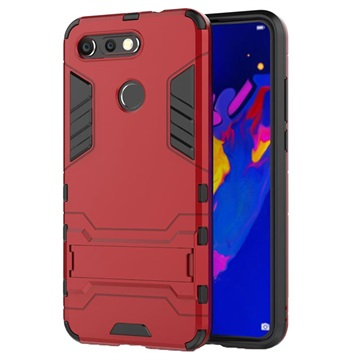 Armor Series Honor View 20 Hybrid Case with Stand - Red