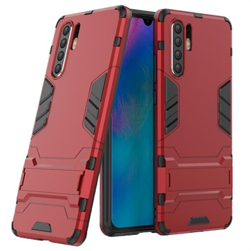 Armor Series Huawei P30 Pro Hybrid Case with Stand - Red