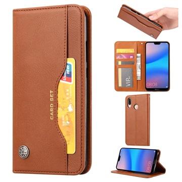 Card Set Series Huawei P30 Lite Wallet Case - Brown