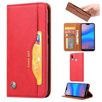 Card Set Series Huawei P30 Lite Wallet Case - Red