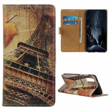 Glam Series Samsung Galaxy A50 Wallet Case - Eiffel Tower