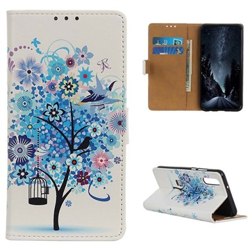 Glam Series Samsung Galaxy A50 Wallet Case - Flowering Tree / Blue