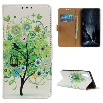Glam Series Samsung Galaxy A50 Wallet Case - Flowering Tree / Green