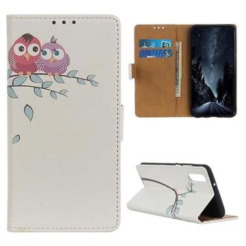 Glam Series Samsung Galaxy A50 Wallet Case - Owls