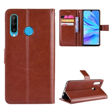 Honor 20 Lite Wallet Case with Kickstand Feature - Brown