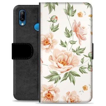 Huawei P20 Lite Premium Wallet Case - Floral