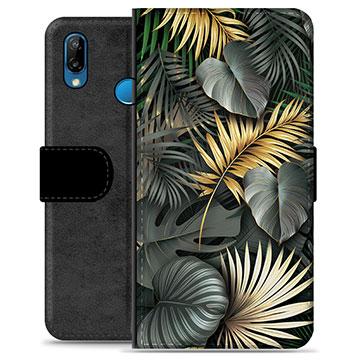 Huawei P20 Lite Premium Wallet Case - Golden Leaves