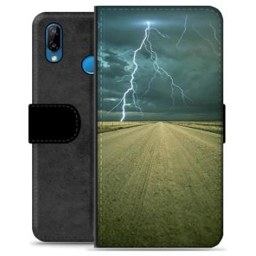 Huawei P20 Lite Premium Wallet Case - Storm