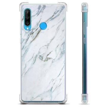 Huawei P30 Lite Hybrid Case - Marble
