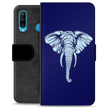 Huawei P30 Lite Premium Wallet Case - Elephant