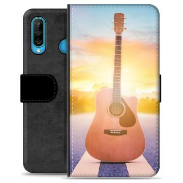 Huawei P30 Lite Premium Wallet Case - Guitar