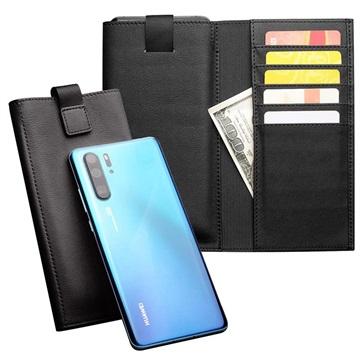 Huawei P30 Pro Qialino Multifunctional Wallet Leather Case - Black