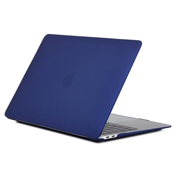 MacBook Air 13.3 2018 A1932 Matte Plastic Case - Dark Blue