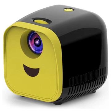 Portable HD Mini Projector L1 - 1080p - Black / Yellow