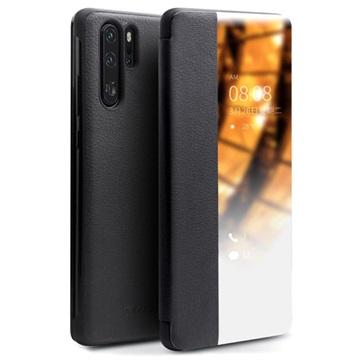 Qialino Smart View Huawei P30 Pro Leather Case - Black