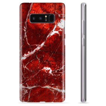 Samsung Galaxy Note8 TPU Case - Red Marble