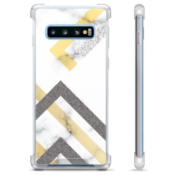 Samsung Galaxy S10+ Hybrid Case - Abstract Marble
