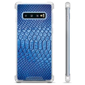 Samsung Galaxy S10+ Hybrid Case - Leather