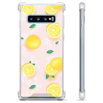 Samsung Galaxy S10 Hybrid Case - Lemon Pattern
