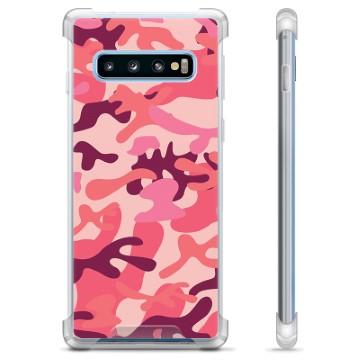 Samsung Galaxy S10 Hybrid Case - Pink Camouflage