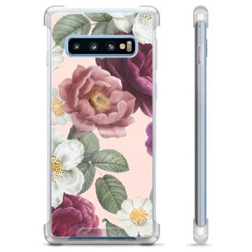 Samsung Galaxy S10 Hybrid Case - Romantic Flowers