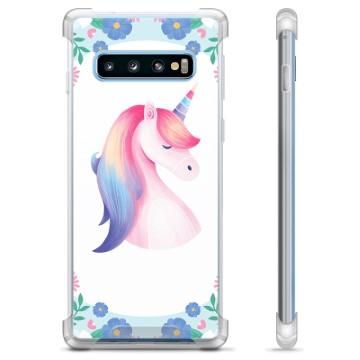 Samsung Galaxy S10+ Hybrid Case - Unicorn
