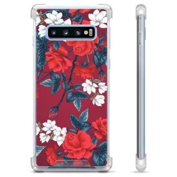 Samsung Galaxy S10+ Hybrid Case - Vintage Flowers